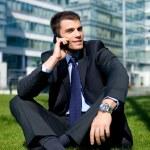 Outdoor Businessman — Stock Photo