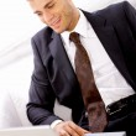 Portrait of Handsome Businessman — Stock Photo
