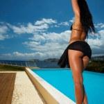Black Bikini Girl — Stock Photo