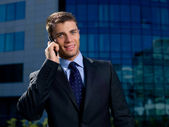 Outdoor Businessman — Stock Photo