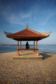 Woman at Bali seaside — Stock Photo