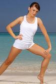 Fitness no caribe — Fotografia Stock