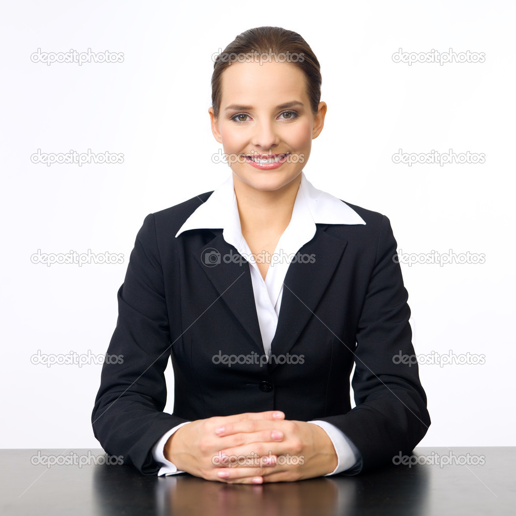 Portrait of beautiful and young business woman — Foto de Stock   #1961767
