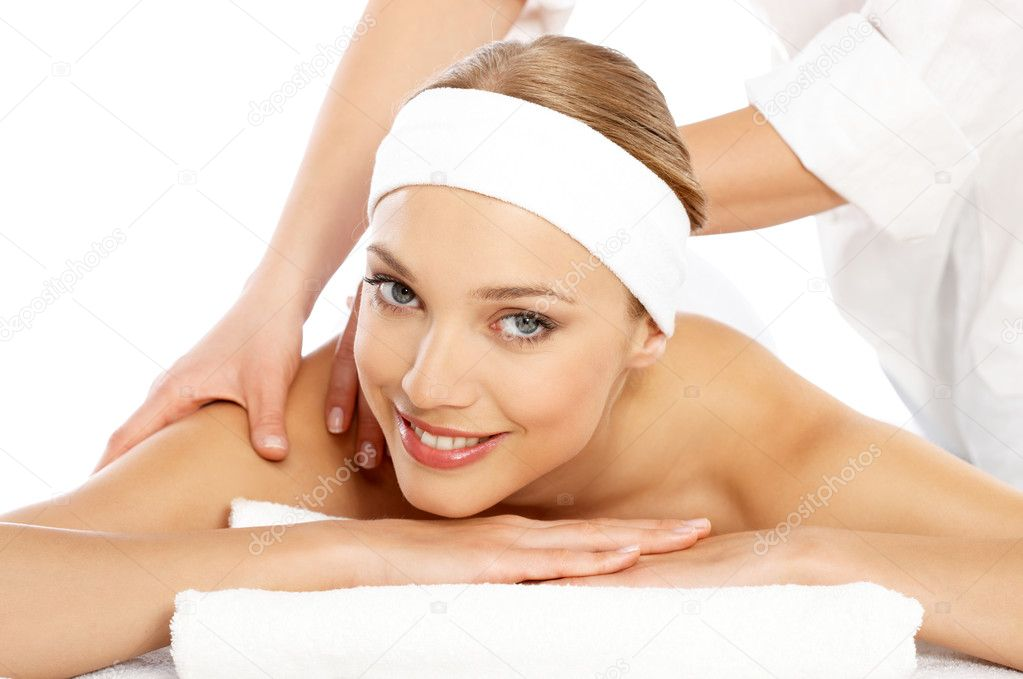 Young beautiful and relaxed lady taking spa treatment — Stock Photo #1962080