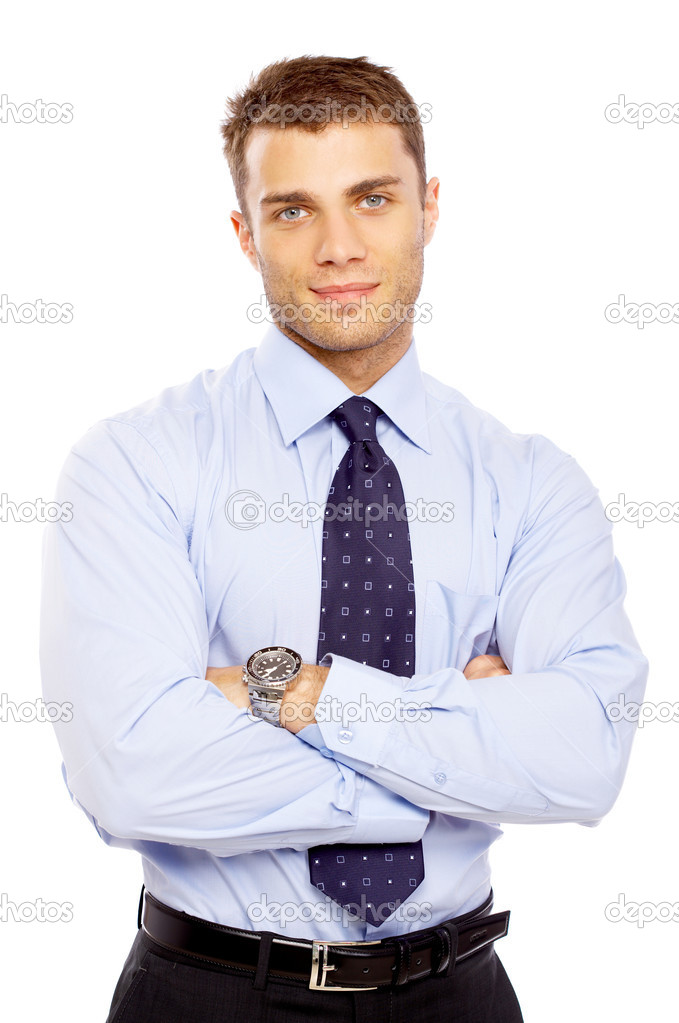 Portrait of business man isolated on white background — Stock Photo #1963301