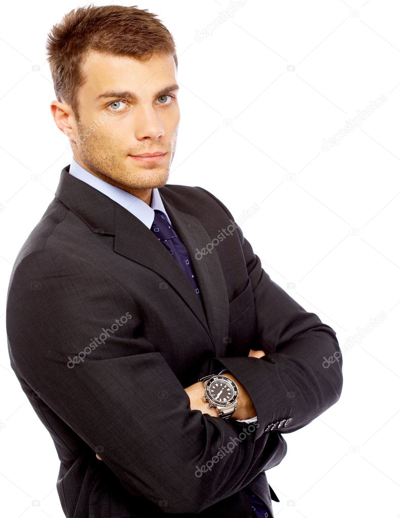 Portrait of business man isolated on white background  Lizenzfreies Foto #1963344