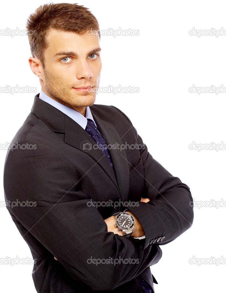 Portrait of business man isolated on white background  Foto de Stock   #1963344