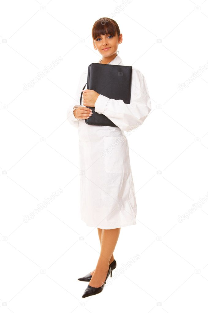 20-25 years old beautiful female doctor isolates on white — Stock Photo #1968917