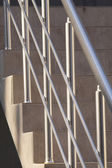Big office building metal railing — Stock Photo