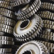 Spare parts gears - Stock Photo