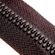 Photo of original  black zipper. — Stock Photo