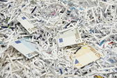 Money as paper for recycling — Stock Photo
