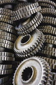 Spare parts gears — Stock Photo