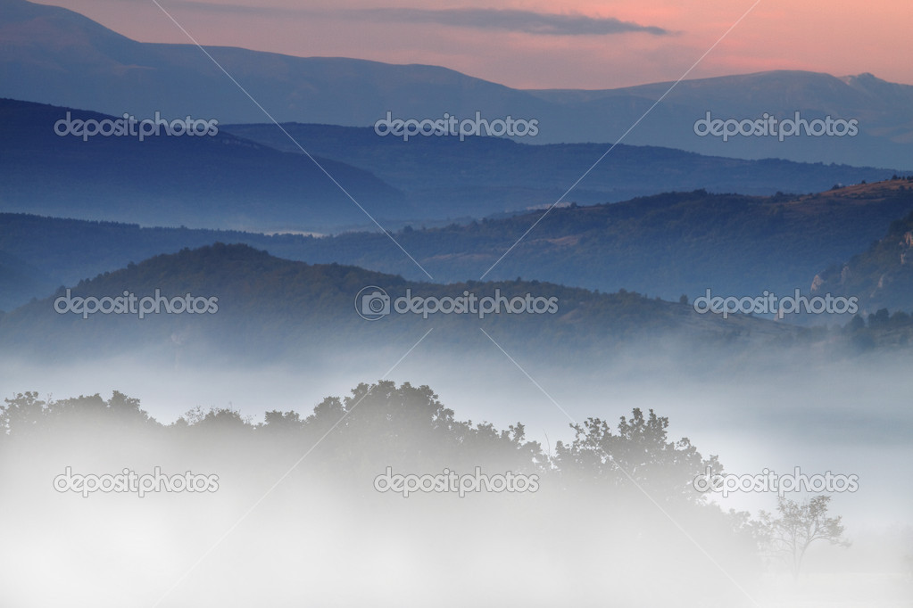 Smoky Mountains in the Fall  Stock Photo #2191652