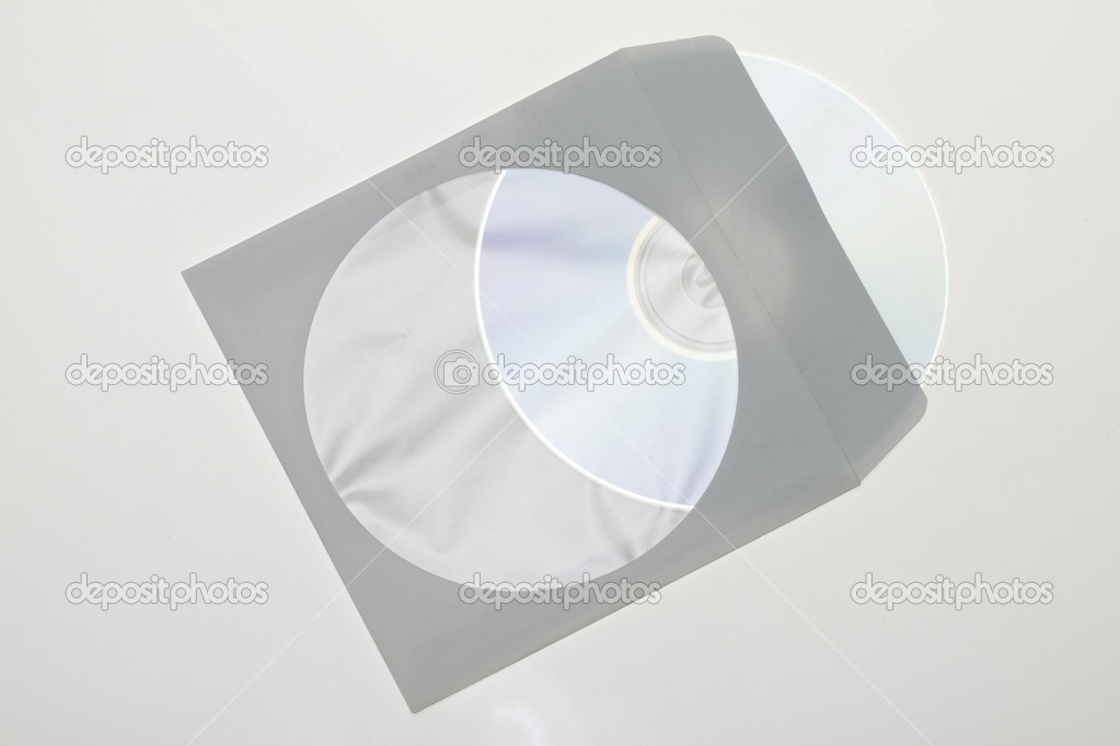 CD dvd blue ray with paper case isolated on a white background    — Stock Photo #2192500