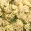 Very tasty boiled house pelmeni — Stock Photo