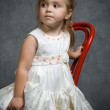 Serious little girl — Stock Photo