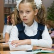 The girl at a lesson — Stock Photo