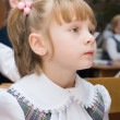 Girl in the classroom — Stock Photo
