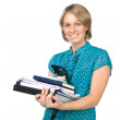 Stock Photo: Businesswoman with documents