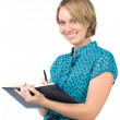 Stock Photo: Smiling secretary