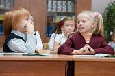 Children at a lesson — Stock Photo