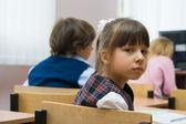 The sad schoolgirl — Stock Photo