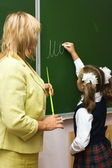 At a school lesson — Stock Photo