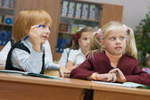 Small children at a lesson — Stock Photo