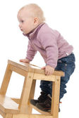 Baby on a chair — Stock Photo