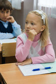 Thoughtful pupils — Stock Photo