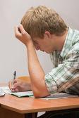 Sınavları için hazırlık — Stok fotoğraf