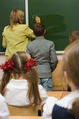 At a school lesson of mathematics — Stock Photo