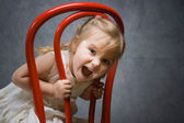 Mischievous baby — Stock Photo