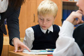 Pupil and teacher at the lesson — Stock Photo