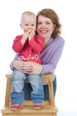 Mum with a small daughter — Stock Photo