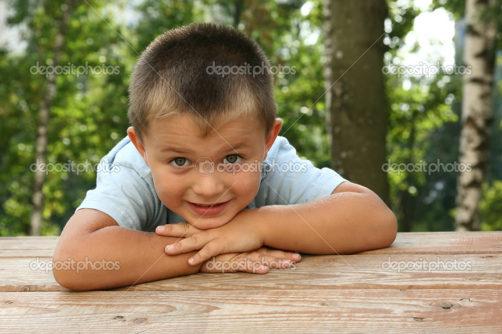 The boy on a playground — Stock Photo #2632751