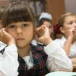 The thoughtful schoolgirl — Stock Photo