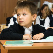 The boy at school at a lesson — Stock Photo