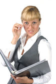 Surprised businesswoman — Stock Photo