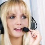 Customer service operator woman — Stock Photo