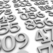 Black and white numbers background — Stock Photo