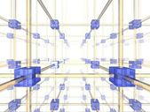 3d network illustration — Stock Photo
