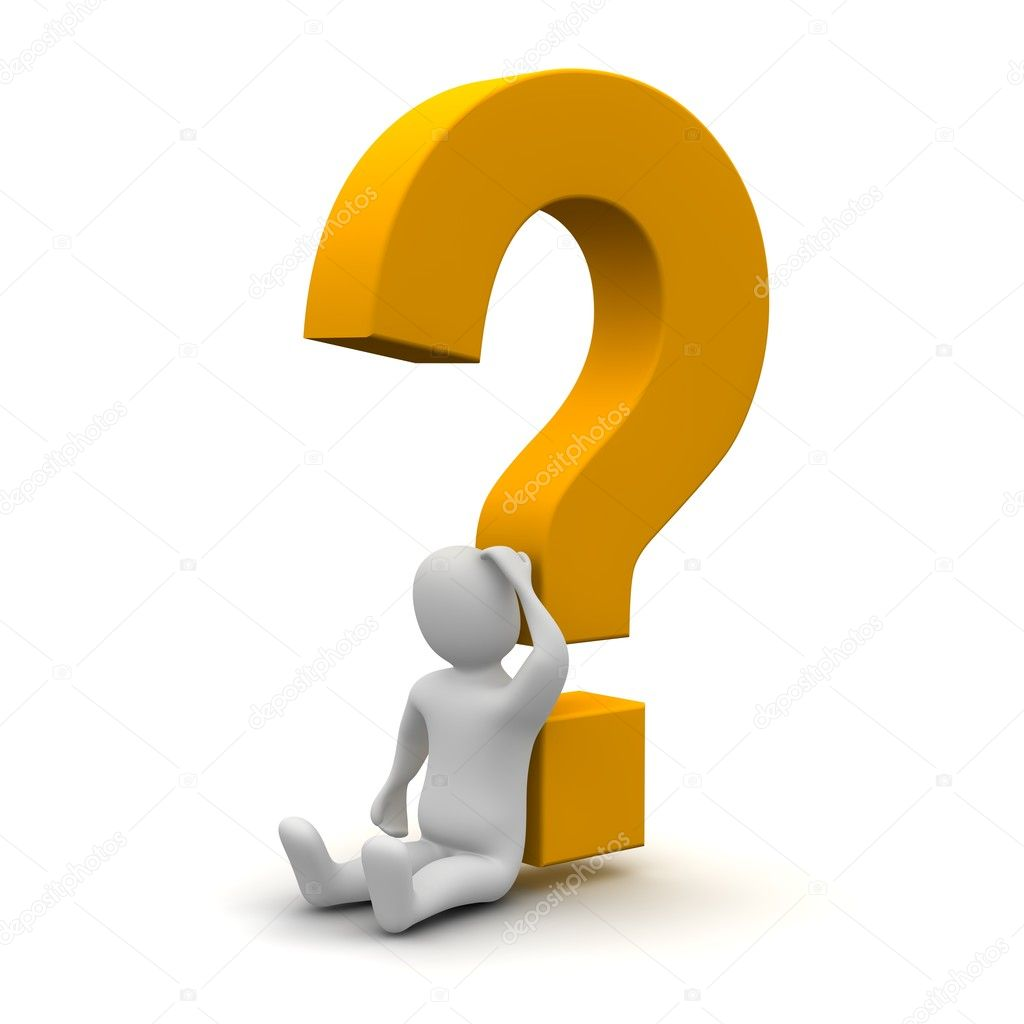 Question Person Clipart Thinking man an...