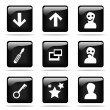 Royalty-Free Stock Photo: Set of glossy buttons with icons
