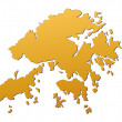 Royalty-Free Stock Photo: Hong Kong map