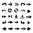 Set of 25 arrow shape variations - Stockfoto