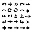 Set of 25 arrow shape variations - Stock Photo