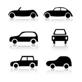 Set of 6 car icons — Stock Photo