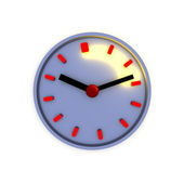 Clock with highlighted time interval — Stock Photo